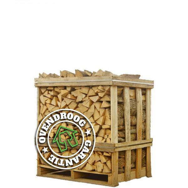 Berken haardhout | halve pallet (ca.120x80x120cm) | bloklengte 25cm | ca.500 blokken | ovengedroogd